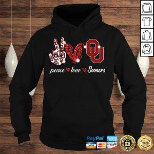 Peace love Oklahoma Sooners shirt Hoodie