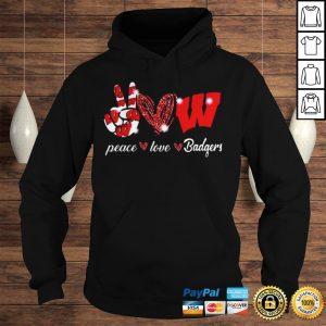Peace love Wisconsin Badgers shirt Hoodie