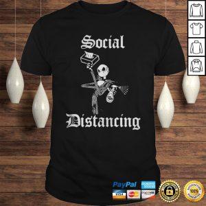 Jack Skellington masked social distancing shirt
