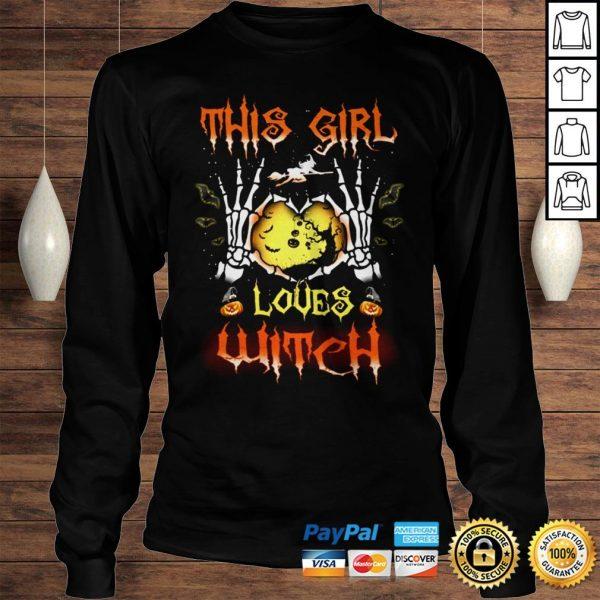 Halloween Shirt Halloween This Girl Love Witch shirt Longsleeve Tee Unisex