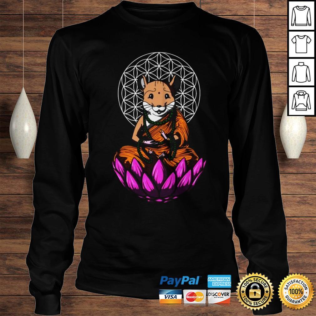 Hamster Mouse Buddha Shirt Longsleeve Tee Unisex