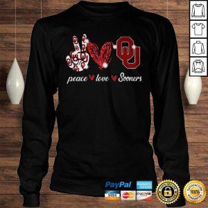 Peace love Oklahoma Sooners shirt Longsleeve Tee Unisex