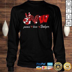Peace love Wisconsin Badgers shirt Longsleeve Tee Unisex