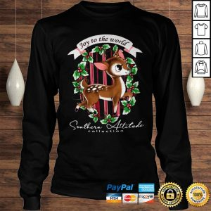 Southern Attitude Joy To The World Christmas Shirt Longsleeve Tee Unisex