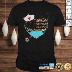 Nurse Heart Leopard Mask Shirt Shirt