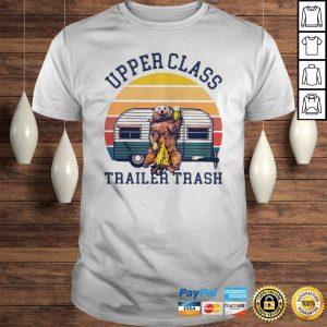 Official Beer Camping Upper Class Trailer Trash Shirt Shirt