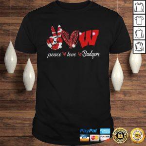 Peace love Wisconsin Badgers shirt