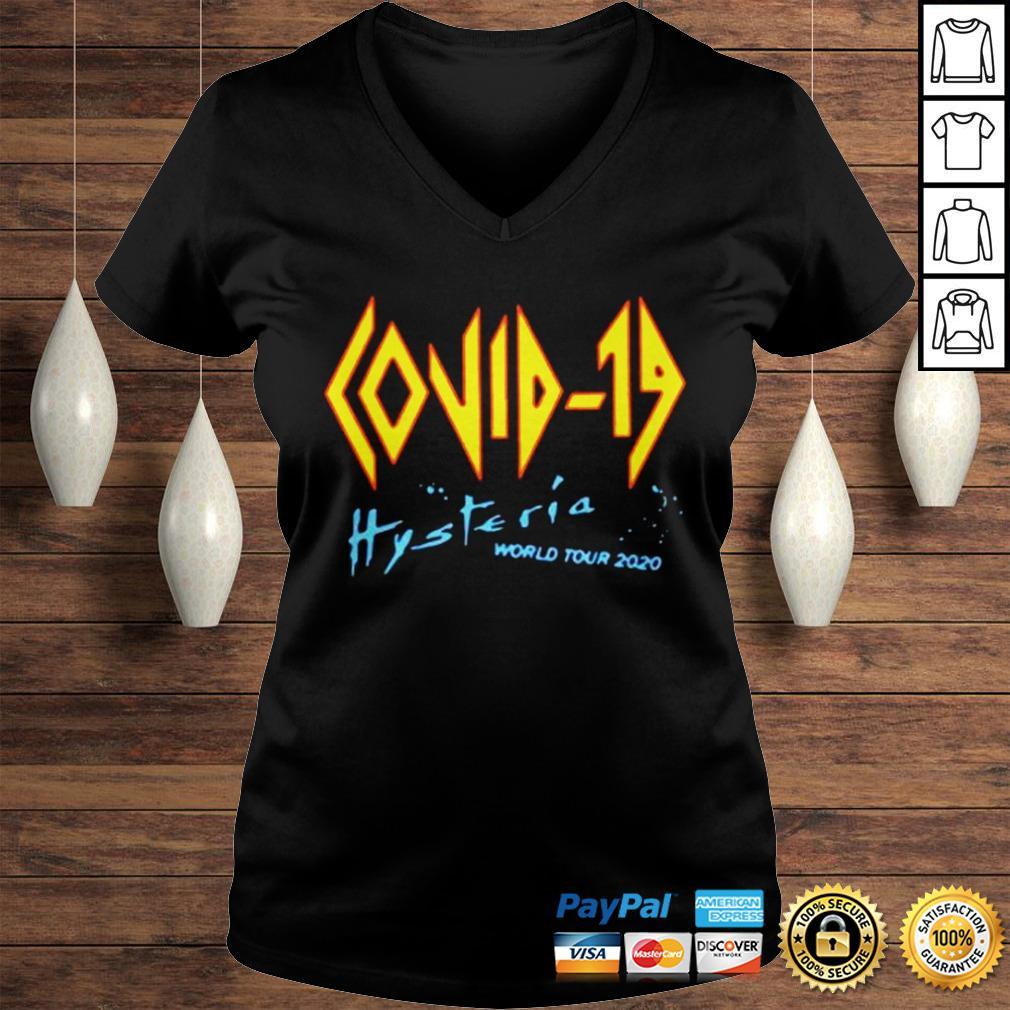 Covid 19 Def Leppard Hysteria World Tour 2020 shirt Ladies V-Neck