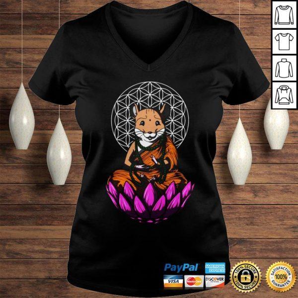 Hamster Mouse Buddha Shirt Ladies V-Neck