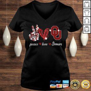 Peace love Oklahoma Sooners shirt Ladies V-Neck