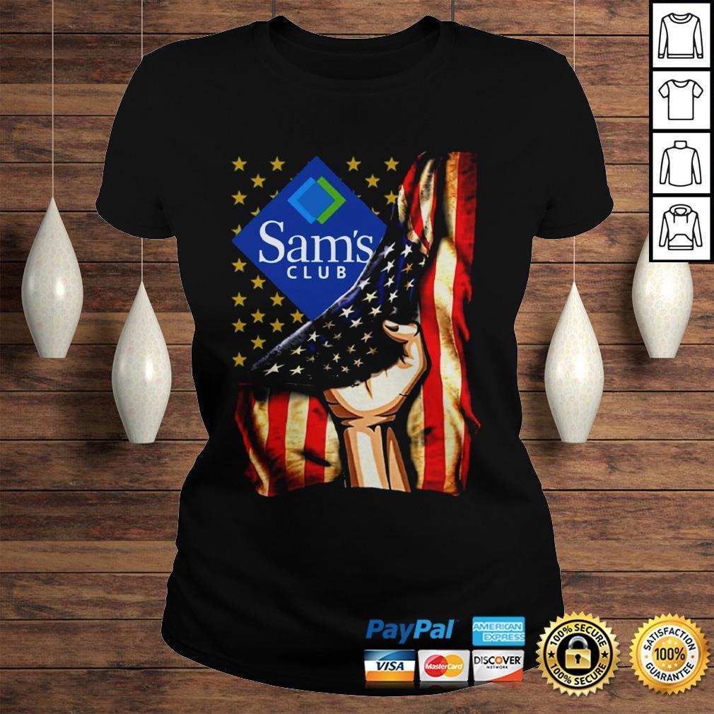 Hand American Flag Sams Club Shirt Classic Ladies Tee
