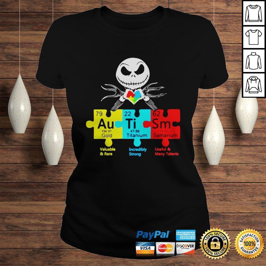Jack Skellington Autism Gold Titanium Samarium Shirt Classic Ladies Tee