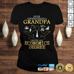NEVER UNDERESTIMATE A GRANDPA WITH AN ECONOMICS DEGREE SHIRT