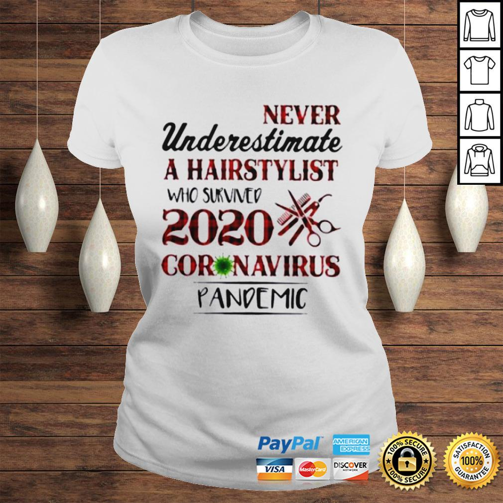 Never Underestimate A Hairstylist Who Survived 2020 Coronavirus Pandemic Shirt Classic Ladies Tee