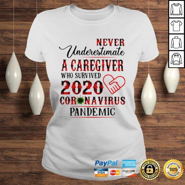 Never underestimate a caregiver who survived 2020 Coronavirus pandemic shirt Classic Ladies Tee
