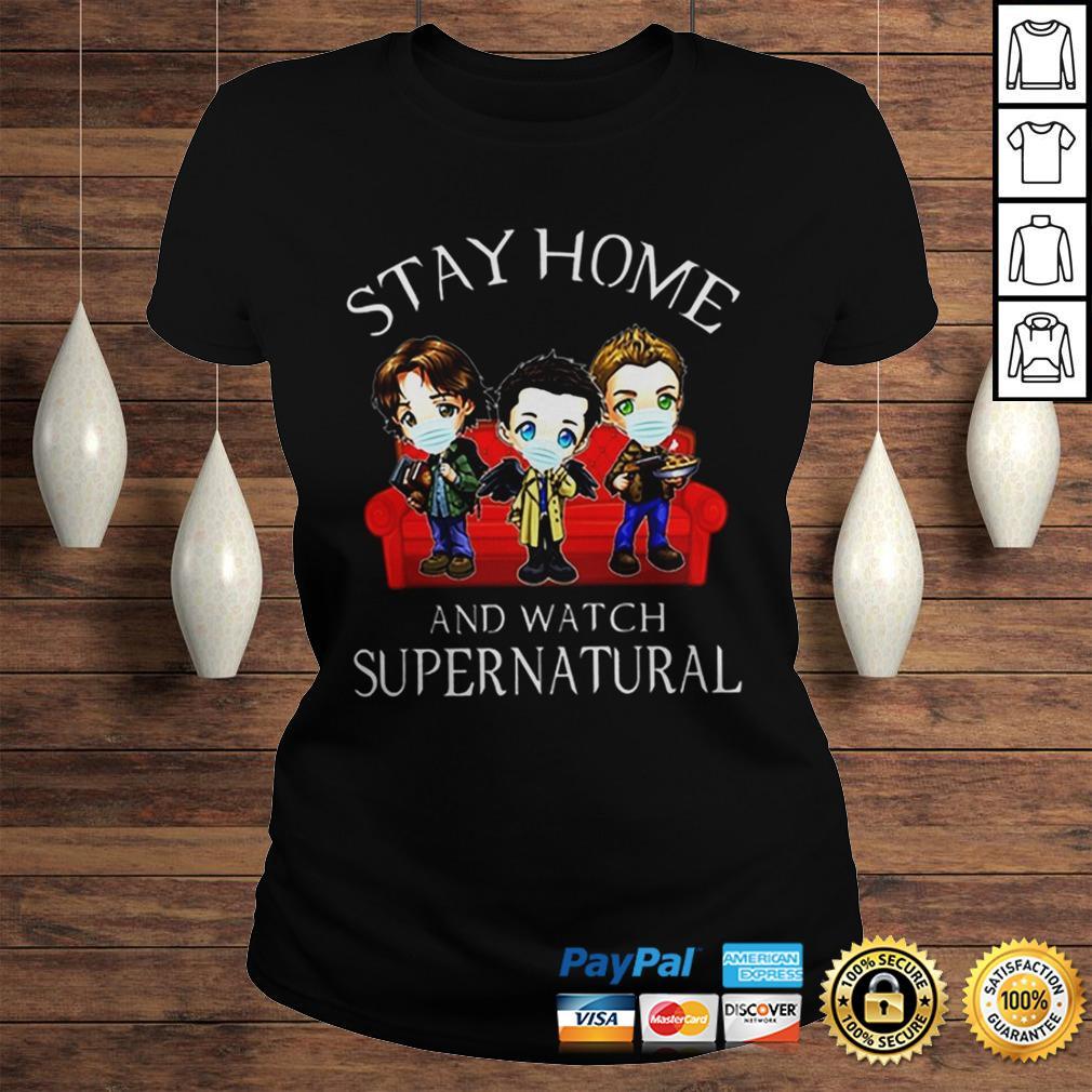 Stay home and watch supernatural coronavirus shirt Classic Ladies Tee