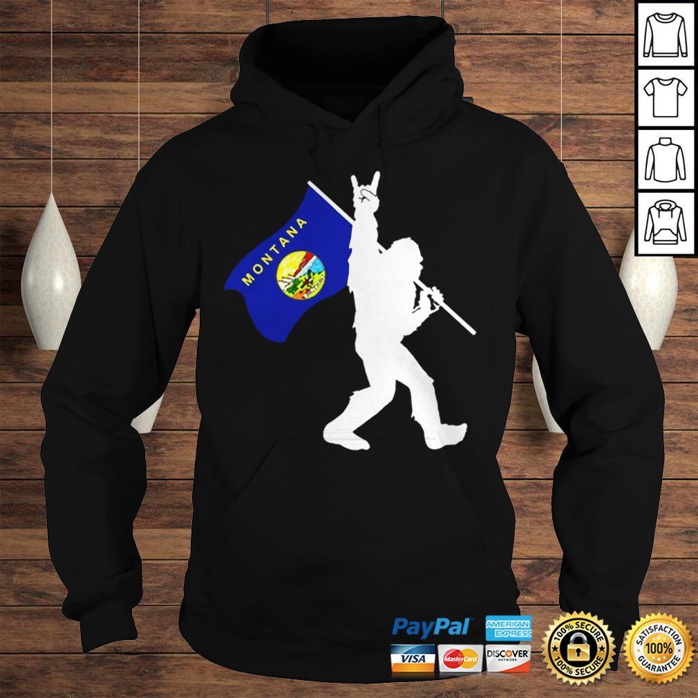 Bigfoot Middle Finger Montana State Flag shirt Hoodie