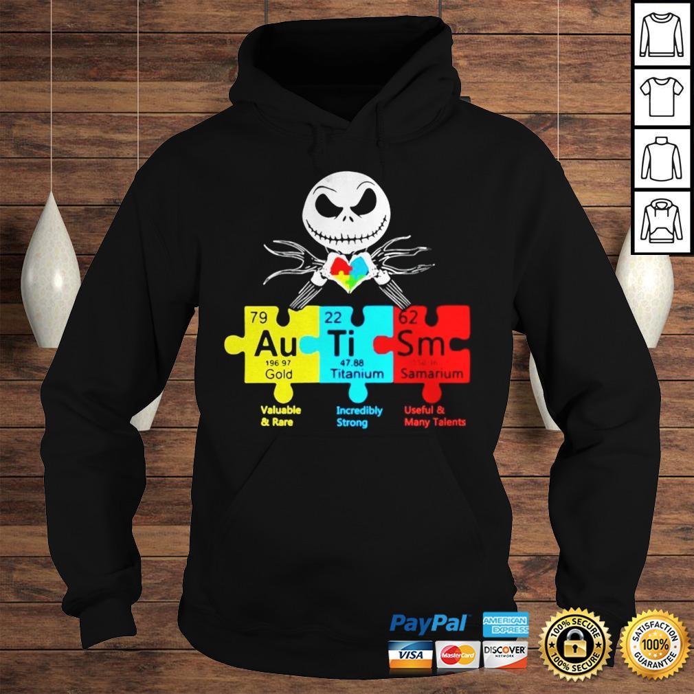 Jack Skellington Autism Gold Titanium Samarium Shirt Hoodie