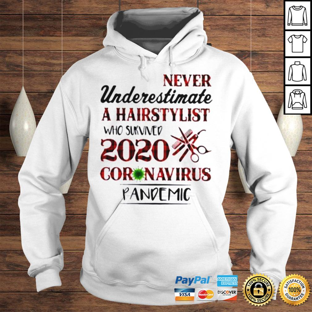 Never Underestimate A Hairstylist Who Survived 2020 Coronavirus Pandemic Shirt Hoodie