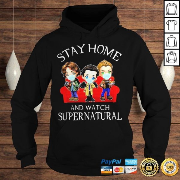 Stay home and watch Supernatural chibi shirt Hoodie