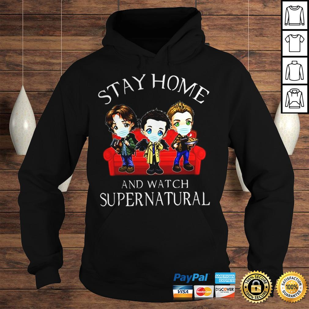 Stay home and watch supernatural coronavirus shirt Hoodie