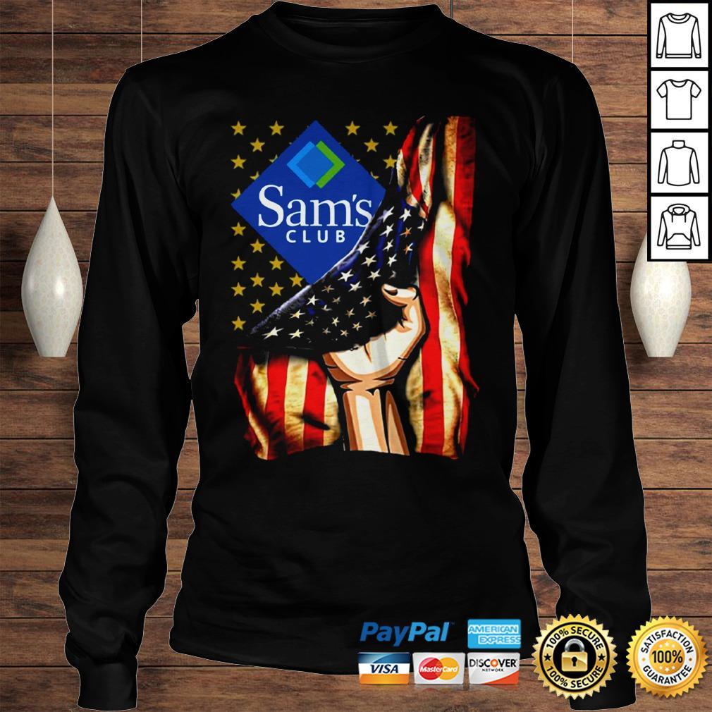 Hand American Flag Sams Club Shirt Longsleeve Tee Unisex