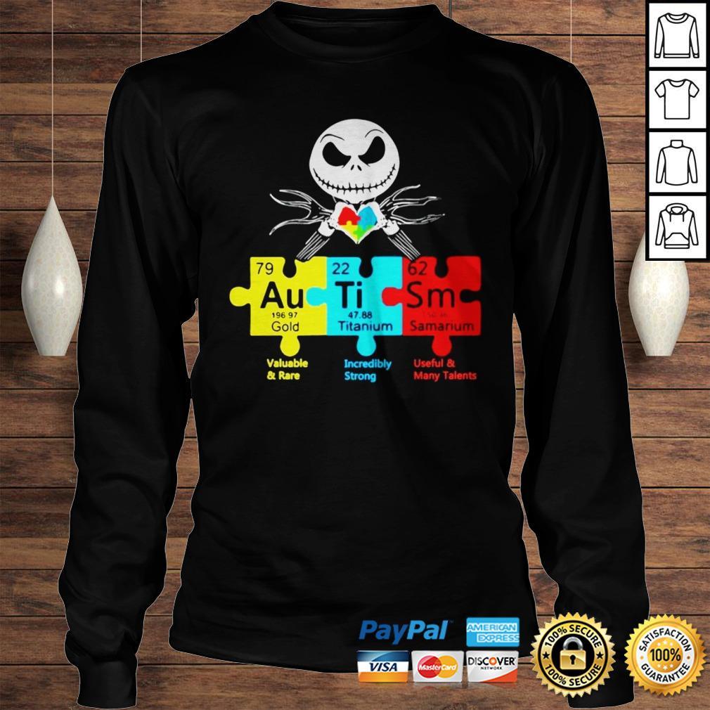 Jack Skellington Autism Gold Titanium Samarium Shirt Longsleeve Tee Unisex