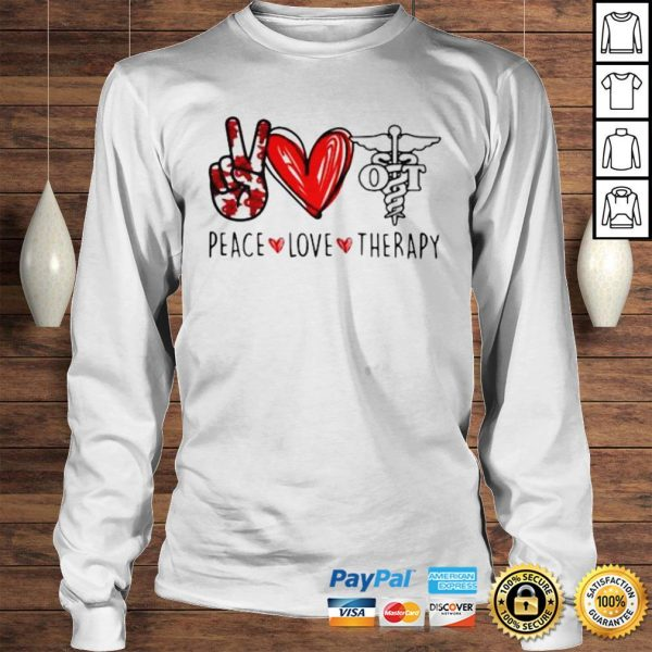 Peace Love Therapy Shirt Longsleeve Tee Unisex