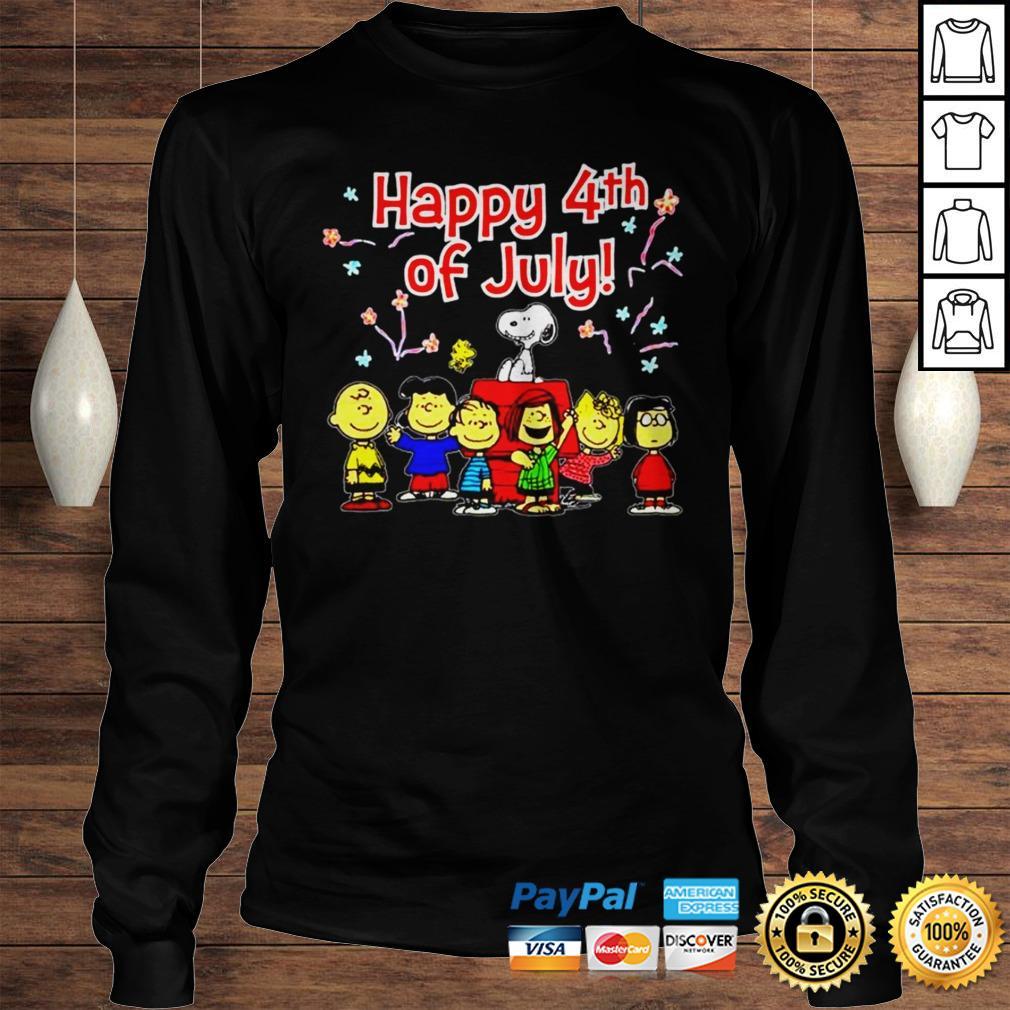 Peanuts Happy 4th of July shirt Longsleeve Tee Unisex