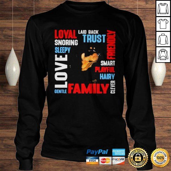 Rottweiler Deion Laid Back Trust Shirt Longsleeve Tee Unisex