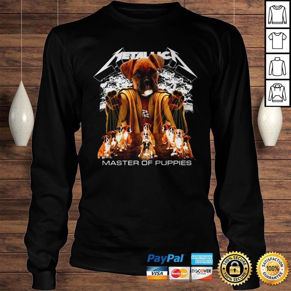 Rottweiler Metallica master of pupies shirt Longsleeve Tee Unisex