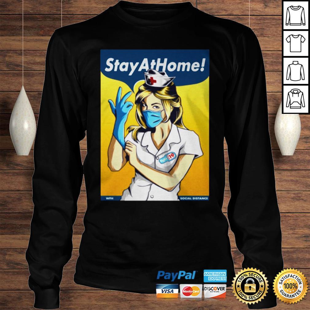 Stay Home Fight Coronavirus For TShirt Longsleeve Tee Unisex
