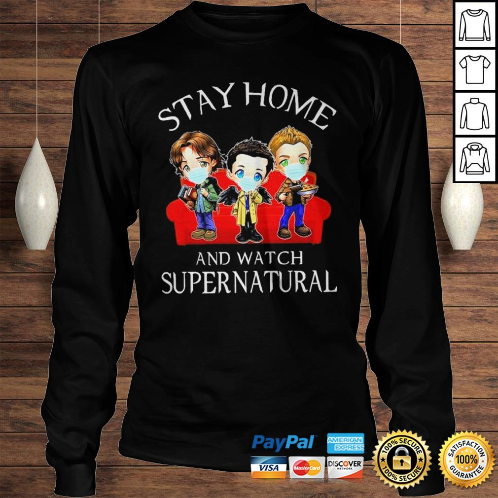 Stay home and watch Supernatural chibi shirt Longsleeve Tee Unisex