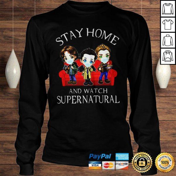 Stay home and watch supernatural coronavirus shirt Longsleeve Tee Unisex