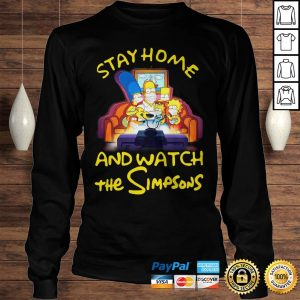 Stay home and watch the Simpsons on the sofa shirt Longsleeve Tee Unisex