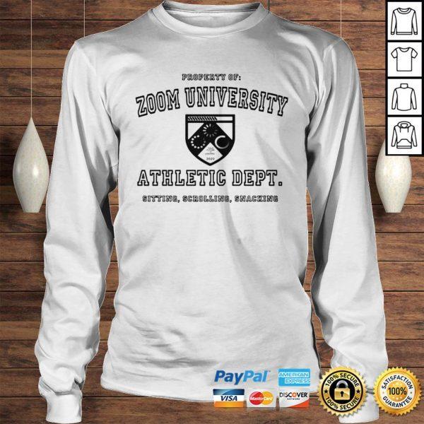 Zoom University Athletic Department Shirt Longsleeve Tee Unisex