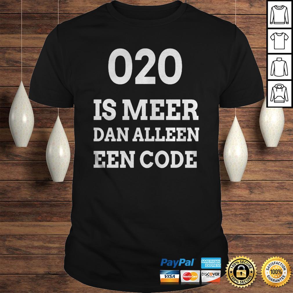 020 is meer dan alleen een code shirt