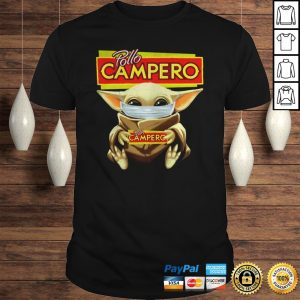 Official Baby Yoda Face Mask Pollo Campero Hoodie Shirt