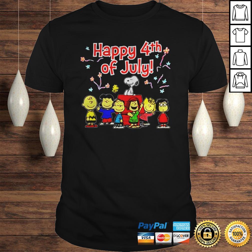 Peanuts Happy 4th of July shirt