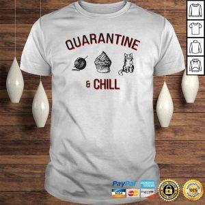 Quarantine and chill cat cake crochet shirt Shirt