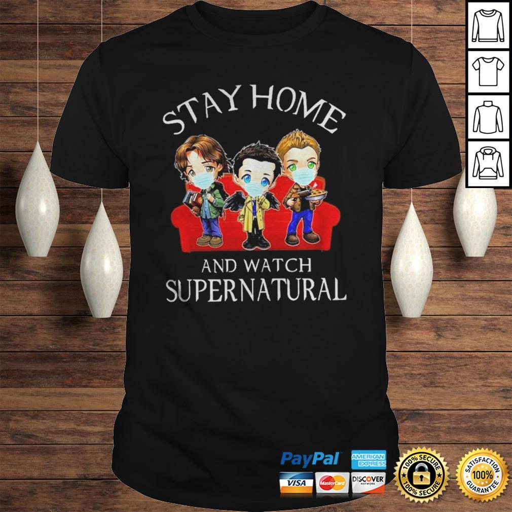 Stay home and watch Supernatural chibi shirt