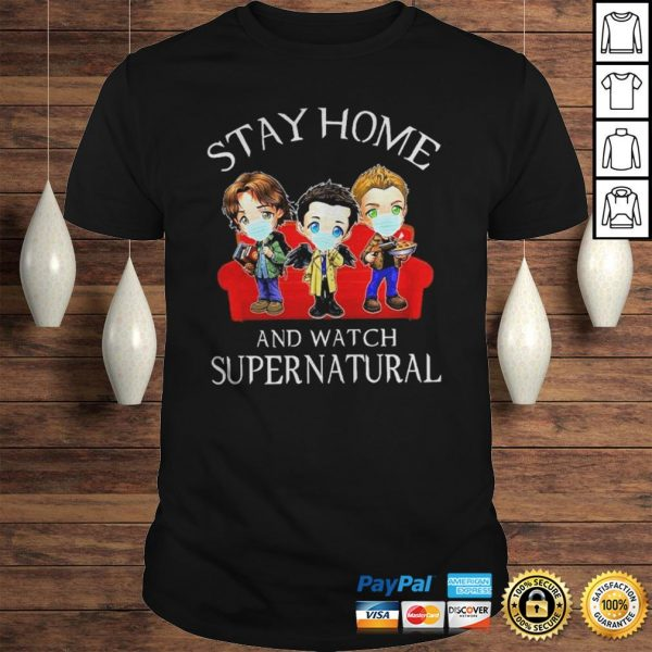 Stay home and watch Supernatural chibi shirt Shirt