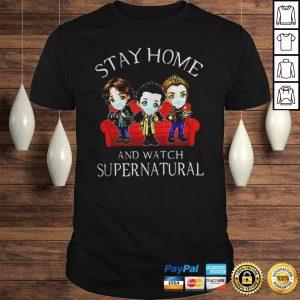 Stay home and watch supernatural coronavirus shirt