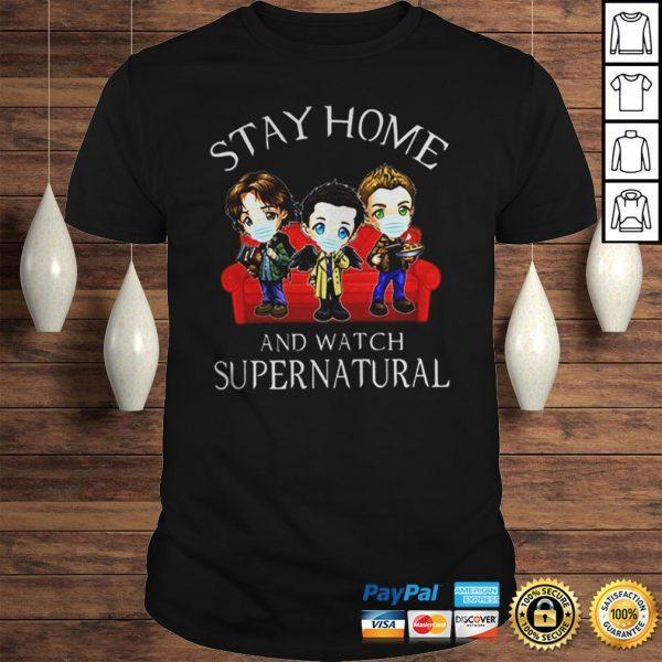 Stay home and watch supernatural coronavirus shirt Shirt