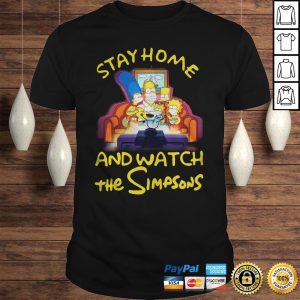 Stay home and watch the Simpsons on the sofa shirt