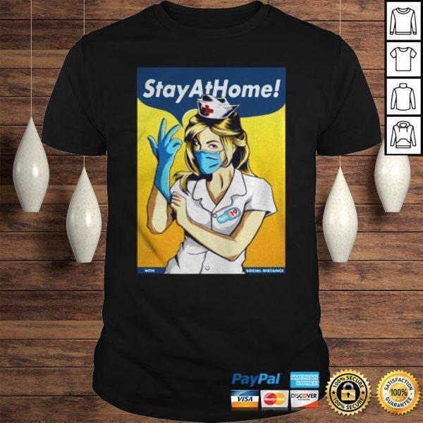 Stay Home Fight Coronavirus For TShirt Shirt