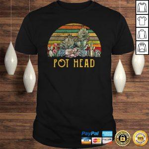 Sunset Cactus Pot Head Shirt Shirt