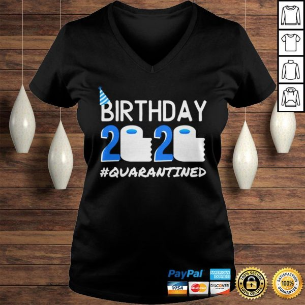 Birthday 2020 Quarantined TShirt Birthday Gift Social Distancing Pandemic Tee Shirt Ladies V-Neck