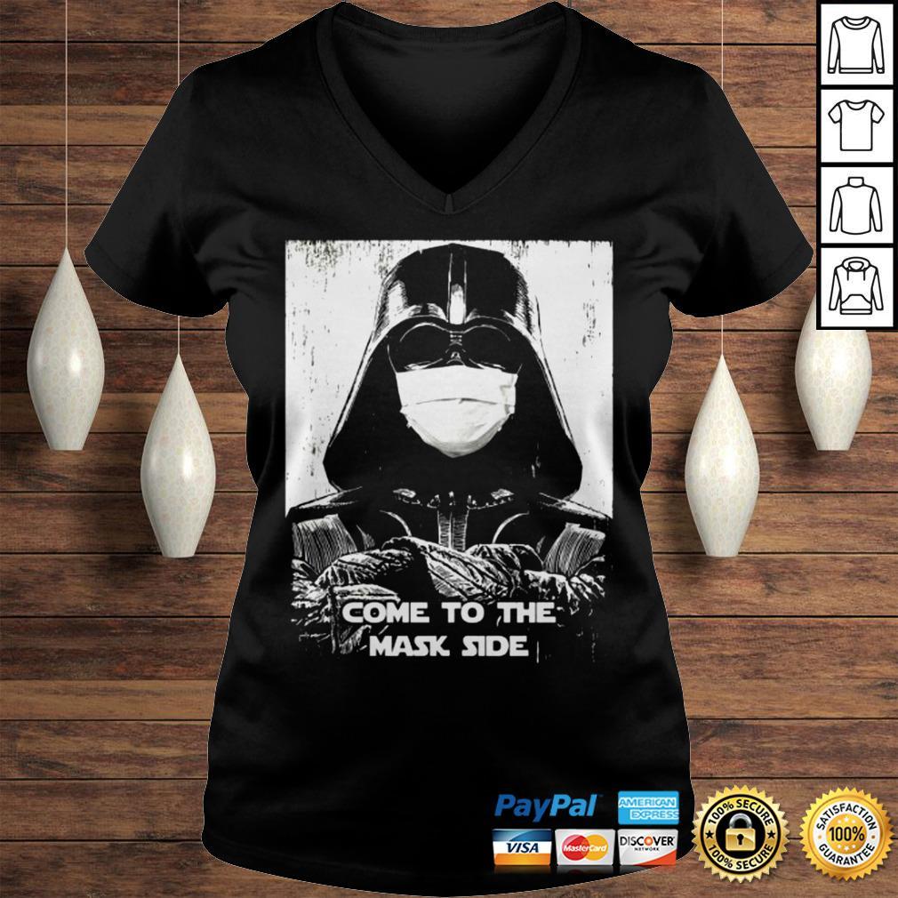 Darth Vader come to the mask side shirt Ladies V-Neck