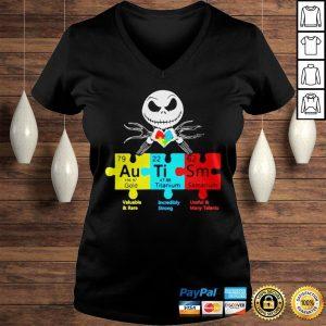Jack Skellington Autism Gold Titanium Samarium Shirt